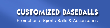 Customized baseballs for sale. Buy customized baseballs with your logo printed onto the face of each customized baseball.