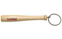 "4"" Mini Wood Baseball Bat Key Chain for promotions. Great for corporate giveaways."