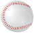 The front of the blank baseball.