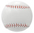 Seams of the blank personalized baseball.