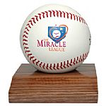 Wooden display case for personalized baseballs. Our personalized baseballs from our baseball company.