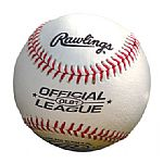 Rawlings Official League leather baseball with your printed logo onto the side of thre baseball.