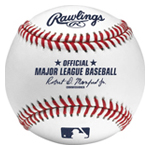 Rawlings Official Major League Leather Baseball with logo.