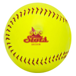 Synthetic Promotional Softball with your printed logo. One-color logo is included.