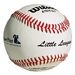 Wilson Official Little League Leather Baseball with logo.