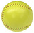 The front of the optic yellow colored softball.
