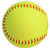 The front of the Wilson optic yellow colored softball.